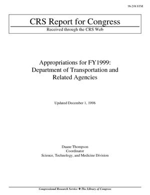 Appropriations for FY1999: Department of Transportation and Related Agencies