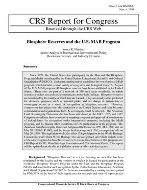 Biosphere Reserves and the U.S. MAB Program