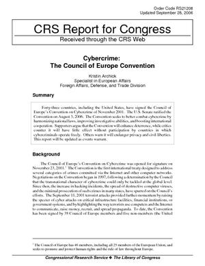 Cybercrime: The Council of Europe Convention