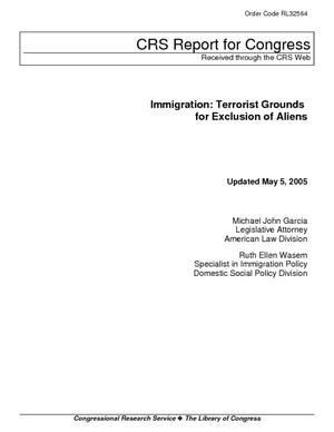 Immigration: Terrorist Grounds for Exclusion of Aliens