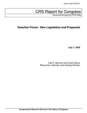 Gasoline Prices: New Legislation and Proposals