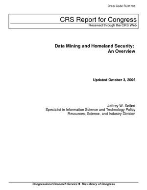 Data Mining and Homeland Security: An Overview