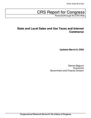 State and Local Sales and Use Taxes and Internet Commerce
