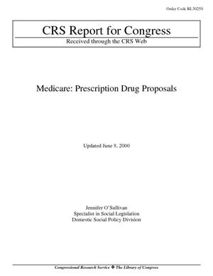 Medicare: Prescription Drug Proposals