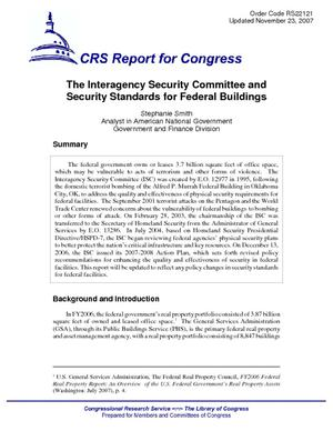 The Interagency Security Committee and Security Standards for Federal Buildings