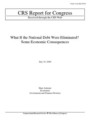 What if the National Debt Were Eliminated? Some Economic Consequences