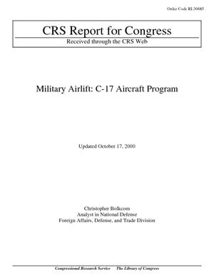 Military Airlift: C-17 Aircraft Program