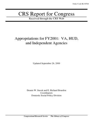 Appropriations for FY2001: VA, HUD, and Independent Agencies
