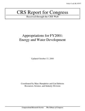 Appropriations for FY2001: Energy and Water Development