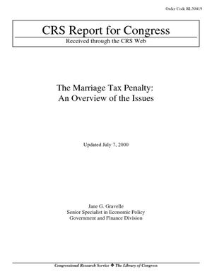 The Marriage Tax Penalty: An Overview of the Issues