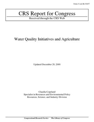 Water Quality Initiatives and Agriculture