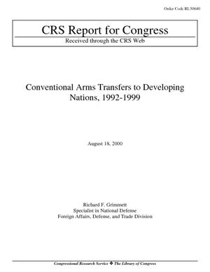 Conventional Arms Transfers to Developing Nations, 1992-1999