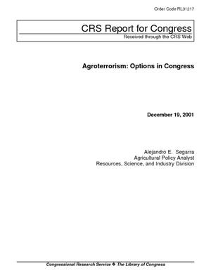 Agroterrorism: Options in Congress