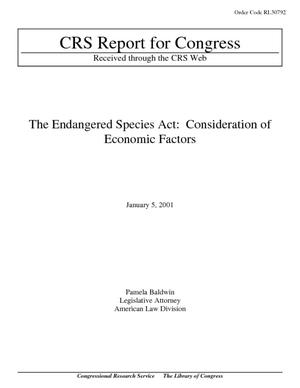 The Endangered Species Act: Consideration of Economic Factors