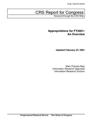 Appropriations for FY2001: An Overview