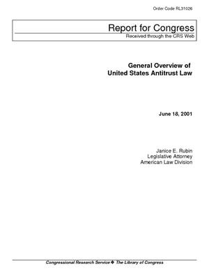 General Overview of United States Antitrust Law