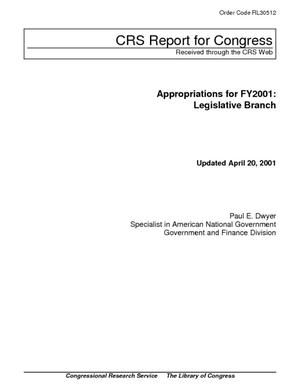Appropriations for FY2001: Legislative Branch