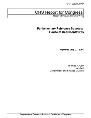 Parliamentary Reference Sources: House of Representatives