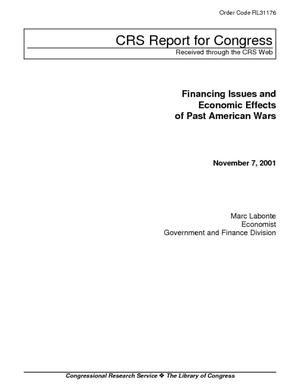Financing Issues and Economic Effects of Past American Wars