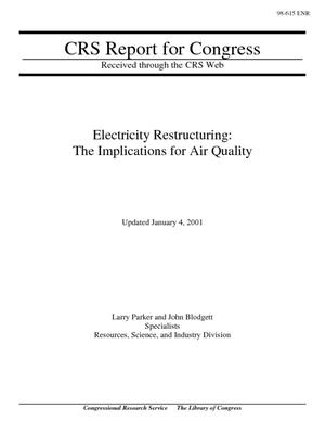 Electricity Restructuring: The Implications for Air Quality