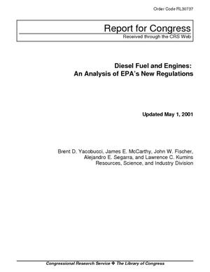 Diesel Fuel and Engines: An Analysis of EPA's New Regulations