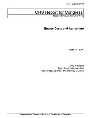 Energy Costs and Agriculture