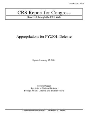 Appropriations for FY2001: Defense