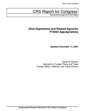 State Department and Related Agencies: FY2002 Appropriations