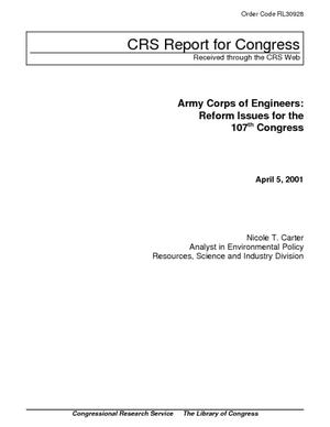 Army Corps of Engineers: Reform Issues for the 107th Congress