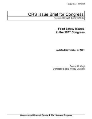 Food Safety Issues in the 107th Congress