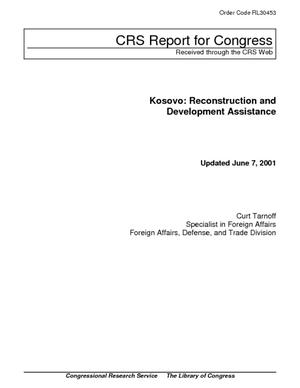 Kosovo: Reconstruction and Development Assistance