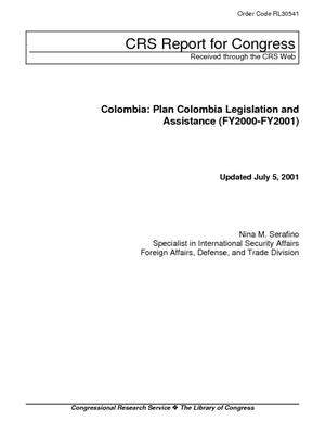 Colombia: Plan Colombia Legislation and Assistance (FY2000-FY2001)