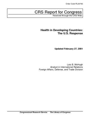 Health in Developing Countries: The U.S. Response