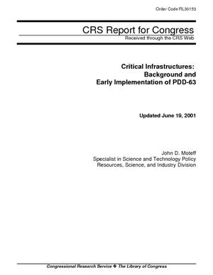 Critical Infrastructures: Background and Early Implementation of PDD-63