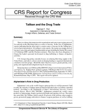 Taliban and the Drug Trade