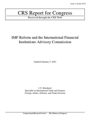 IMF Reform and the International Financial Institutions Advisory Commission