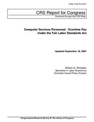 Computer Services Personnel: Overtime Pay Under the Fair ...