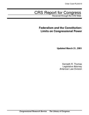Federalism and the Constitution: Limits on Congressional Power