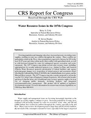 Water Resource Issues in the 107th Congress