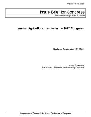 Animal Agriculture: Issues in the 107th Congress
