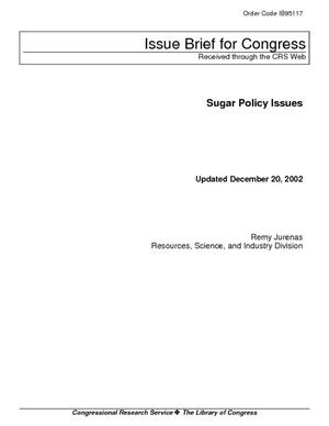 Sugar Policy Issues