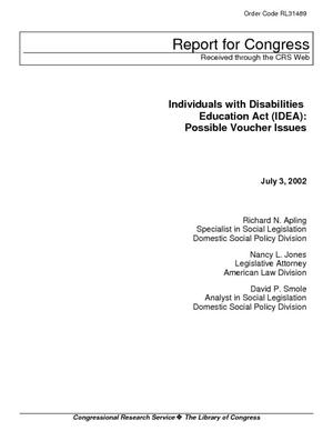 Individuals with Disabilities Education Act (IDEA): Possible Voucher Issues
