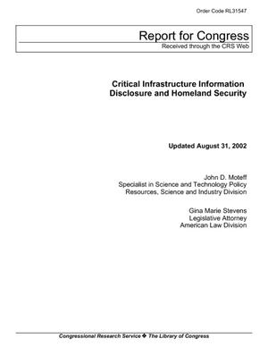 Critical Infrastructure Information Disclosure and Homeland Security