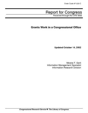 Grants Work in a Congressional Office