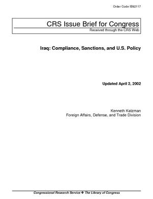 Iraq: Compliance, Sanctions, and U.S. Policy