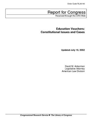 Education Vouchers: Constitutional Issues and Cases