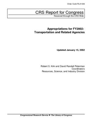 Appropriations for FY2002: Transportation and Related Agencies