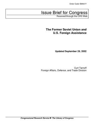 Primary view of The Former Soviet Union and U.S. Foreign Assistance