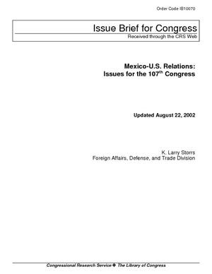Mexico-U.S. Relations: Issues for the 107th Congress