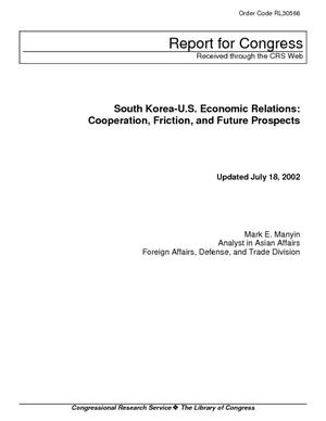 South Korea-U.S. Economic Relations: Cooperation, Friction, and Future Prospects